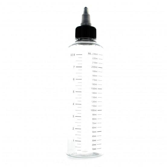 Bouteille plastique graduée 230 ml