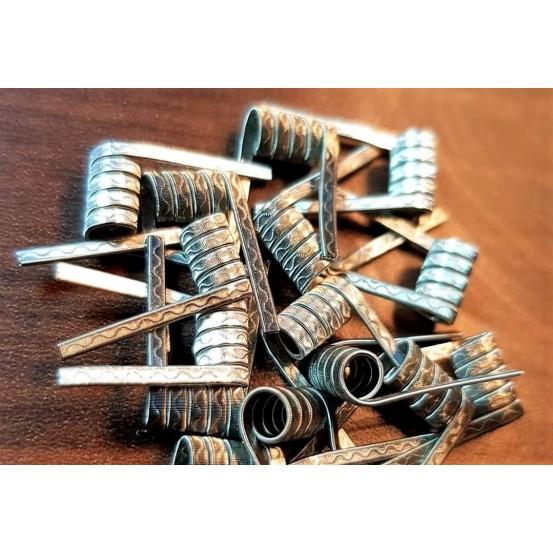 Paire de Coils Framed corrugated ni80/90 27x2/0.4x0.1x1/38 5T 3mm