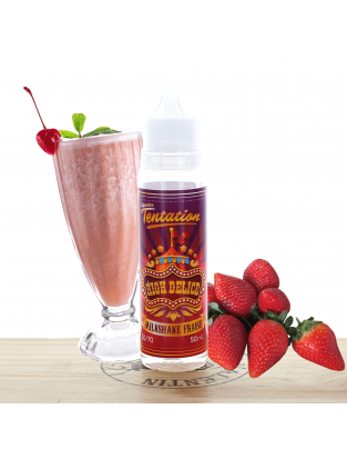 Milkshake Fraise 50ml - Liquideo Tentation