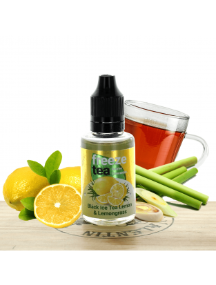 Concentré Black Ice Tea Lemon et Lemongrass 30ml - Freeze Tea