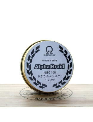 Bobine de fil  10ft fait main Alpha Braid Ni80 - Ohm Science